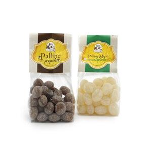 "Caramelle ""Palline"" al miele al gusto propoli ed eucaulipto"
